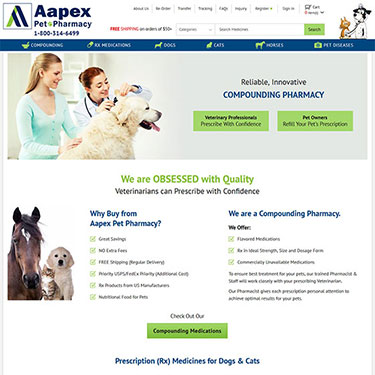 Aapex Pet Pharmacy - Ecommerce Store Consultants