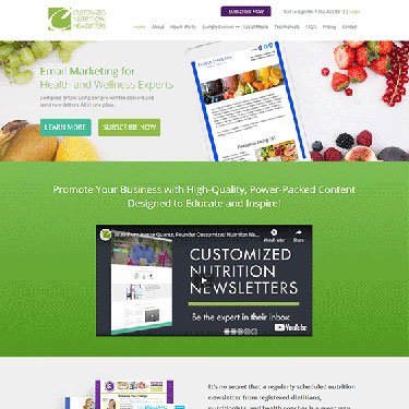 Customized Nutrition Newsletters - Web Application Consulting Services