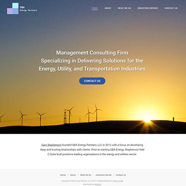 GBA Energy Partner - Corporate Web Design Consulting Providers
