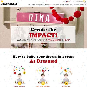 Jexpressit Personalized Nameplates - Wordpress Website Consultants