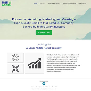 NSK Capital - Corporate Web Development Consulting Providers