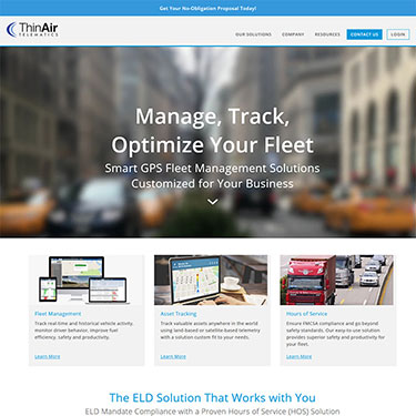 ThinAir Telematics - Corporate Web Development Consultant